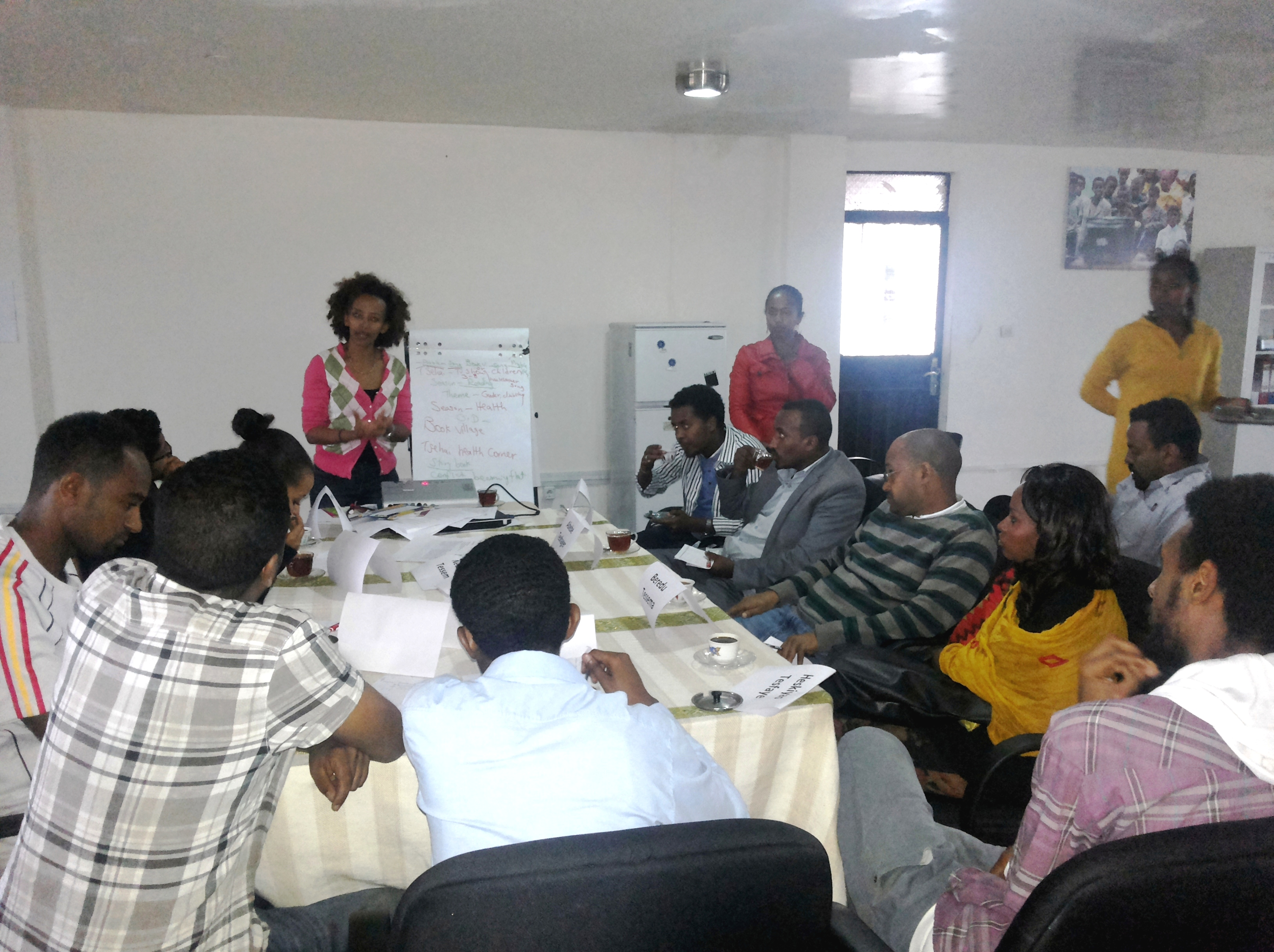 A scriptwriter's workshop in Addis Ababa, Ethiopia (Africa)