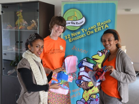 Days for Girls representative, founder of Whiz Kids Workshop, and Youth Champion Tinbit Daniel holding the reusable feminine sanitary products