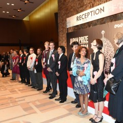 Bruktawit standing in line at Japan Prize 2014